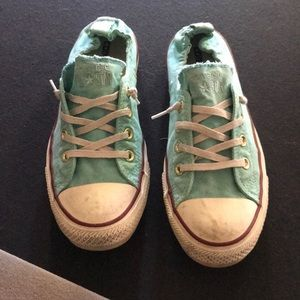 Turquoise converse all stars